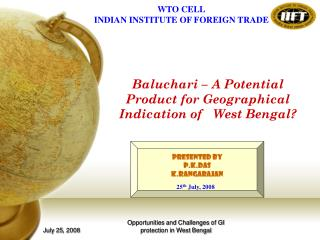 Baluchari – A Potential Product for Geographical Indication of West Bengal?