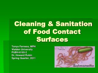 Cleaning & Sanitation of Food Contact Surfaces