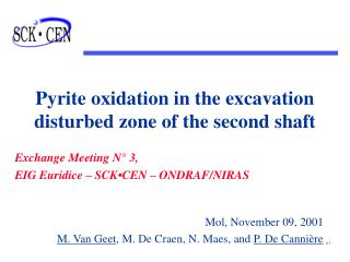 Pyrite oxidation in the excavation disturbed zone of the second shaft