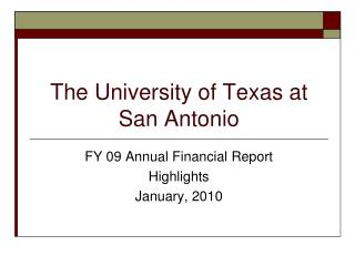 The University of Texas at San Antonio