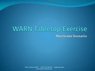 WARN Tabletop Exercise
