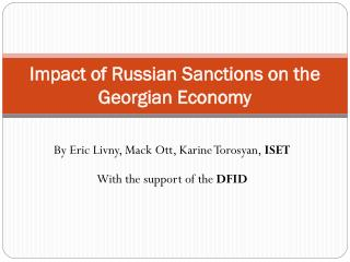 Impact of Russian Sanctions on the Georgian Economy