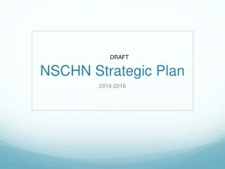 NSCHN Strategic Plan