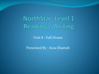 NorthStar Level 1 Reading / Writing