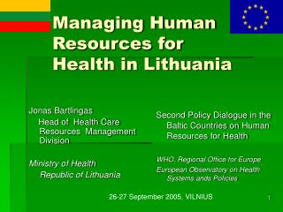 Managing Human Resources for Health in Lithuania