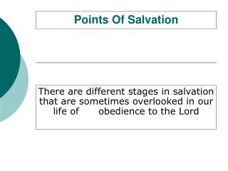 Points Of Salvation
