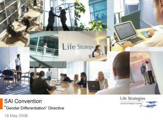 """SAI Convention """" Gender Differentiation"""" Directive"""