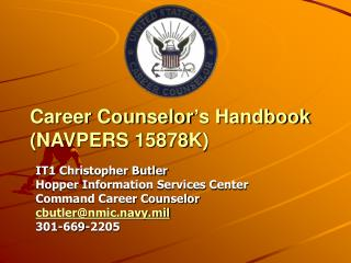 Career Counselor's Handbook (NAVPERS 15878K)