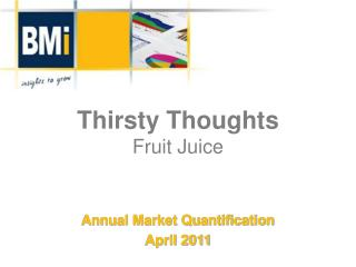 Thirsty Thoughts Fruit Juice