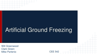 Ground Freezing