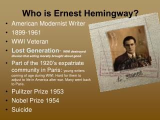 Who is Ernest Hemingway?