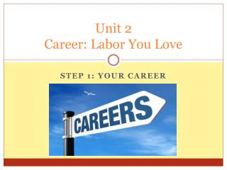 Unit 2 Career: Labor You Love