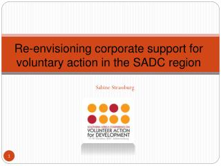 Re-envisioning corporate support for voluntary action in the SADC region