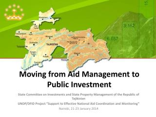 Moving from Aid  Management  to Public Investment