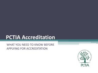 PCTIA Accreditation