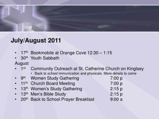 July/August 2011