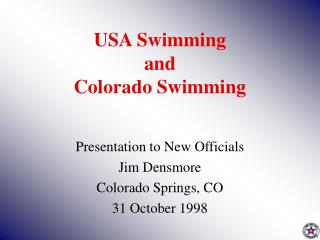USA Swimming and Colorado Swimming