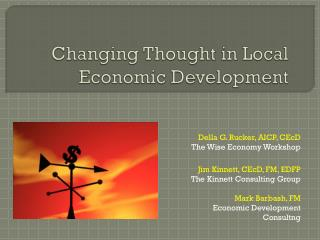 Changing Thought in Local Economic Development