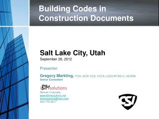 Building Codes in Construction Documents