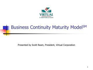 Business Continuity Maturity Model SM