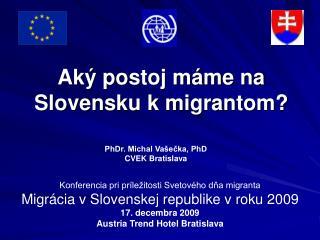Aký postoj máme na Slovensku k migrantom?