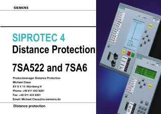 SIPROTEC 4 Distance Protection 7SA522 and 7SA6