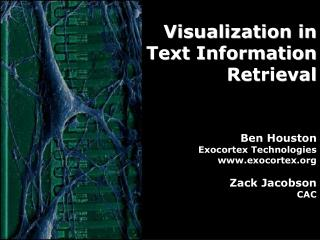 Visualization in Text Information Retrieval