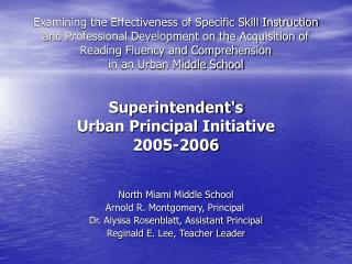 Examining the Effectiveness of Specific Skill Instruction and Professional Development on the Acquisition of Reading Flu