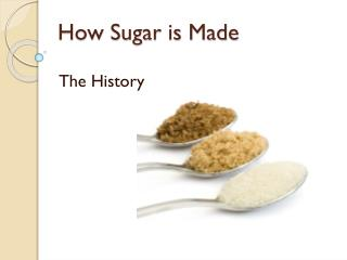 How Sugar is Made