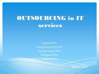 OUTSOURCING in IT services