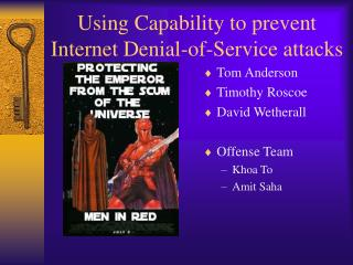 Using Capability to prevent Internet Denial-of-Service attacks