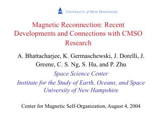 Magnetic Reconnection: Recent Developments and Connections with CMSO Research