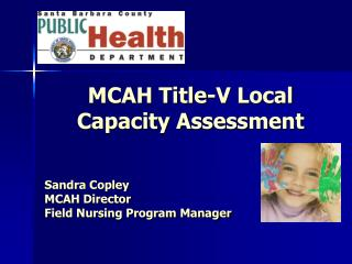 MCAH Title-V Local Capacity Assessment