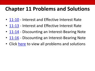 Chapter 11 Problems and Solutions