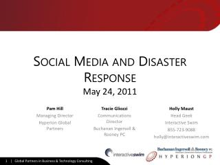 Social Media and Disaster Response