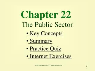 Chapter 22 The Public Sector