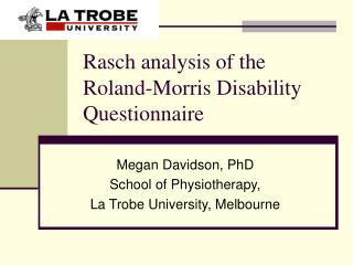 Rasch analysis of the Roland-Morris Disability Questionnaire