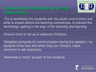 Enhance the Distance Learning Experience