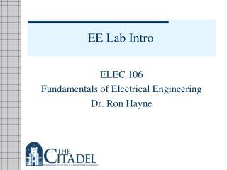 EE Lab Intro