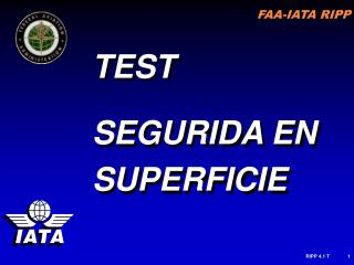 TEST  SEGURIDA EN SUPERFICIE