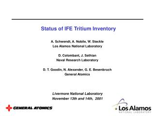 Status of IFE Tritium Inventory