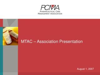 MTAC – Association Presentation