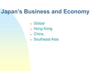 Japan's Business and Economy
