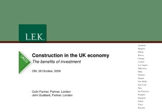 Construction in the UK economy