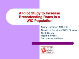 A Pilot Study to Increase Breastfeeding Rates in a WIC Population