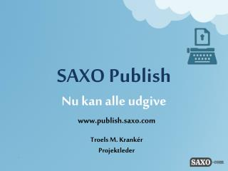 SAXO Publish