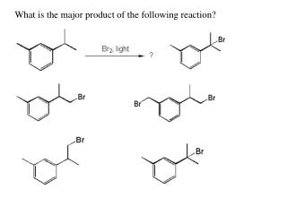 What is the major product of the following reaction?