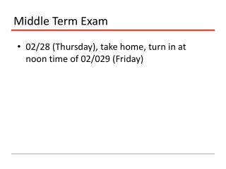 Middle Term Exam