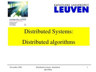 Distributed Systems:  Distributed algorithms
