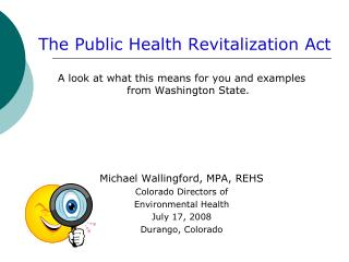 The Public Health Revitalization Act